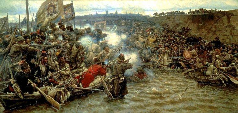 Cucerirea Siberiei de către Ermak   Vasily Surikov